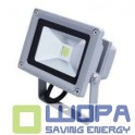 10W Led Floodlight Classic Premium Reflector Graphite Body - 6000K